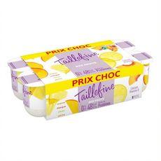 TAILLEFINE Yaourt aux fruits jaunes 0% MG 8x125g