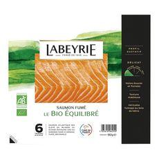 LABEYRIE Saumon fumé bio 6 tranches 180g