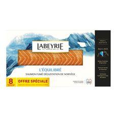 LABEYRIE Labeyrie Saumon fumé de Norvège dégustation tranché x8 290g 8 tranches minimum 290g
