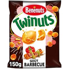 Bénénuts BENENUTS Twinuts cacahuètes enrobées goût barbecue