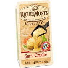 Richesmonts Fromage à raclette sans croûte tranches x16 420g
