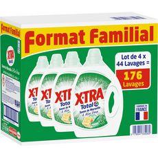 X-TRA X-tra Lessive diluée savon Marseille 176 lavages 4x2,2l 4x2,2l
