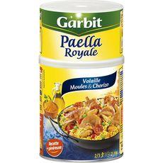 GARBIT Paëlla royale volaille et fruits de mer et chorizo express 10min 940g