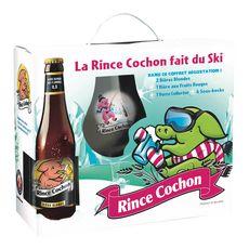 RINCE COCHON Rince Cochon Coffret hiver bière blonde et fruits rouges 8,5% 3x33cl + 1 verre 3x33cl