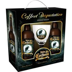 CORBEAU Corbeau Coffret bière blonde dégustation 9% 2x75cl + 1 verre +1 verre 2x75cl