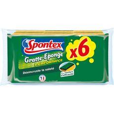 SPONTEX Gratte-Eponges performance 6 pièces