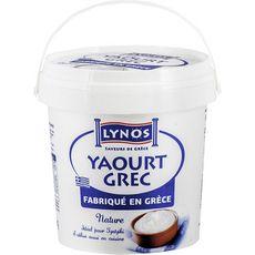 LYNOS Yaourt à la grecque au lait de vache 1kg