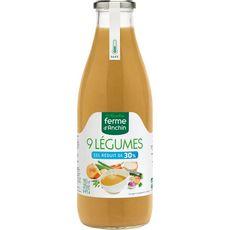 Ferme d'Anchin FERME D'ANCHIN Ferme d'Anchin Soupe 9 légumes sel réduit de 30% 98,5cl