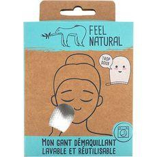 FEEL NATURAL Gant à démaquiller lavable et réutilisable 1 gant