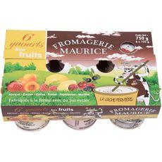 FROMAGERIE MAURICE Yaourt brassé au lait entier aux fruits 6x125g