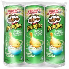 Pringles PRINGLES Sour Cream Tuiles salées saveur crème aigre et oignon