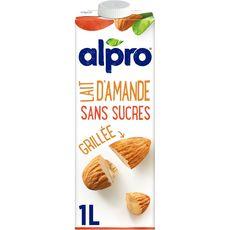 ALPRO Boisson végétale lait d'amande grillée sans sucres 1L