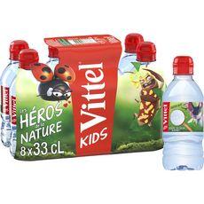 VITTEL Eau minérale naturelle plate en bouteilles 8x33cl