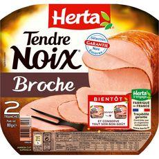 HERTA Herta tendre noix à la broche 2 tranches 80g