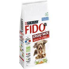 PURINA Fido croq'mix croquettes boeuf et légumes pour chien 7 kg