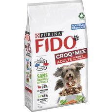 FIDO Croq'mix croquettes boeuf et légumes pour chien 3kg