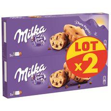 MILKA Gâteaux fourrés aux pépites de chocolat sachets individuels 10 gâteaux 2x140g