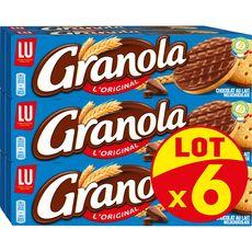 GRANOLA Biscuits sablés nappés de chocolat au lait 6 boîtes  6x200g