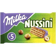 MILKA Nussini barre chocolatée croustillante gaufrette 5x31,5g