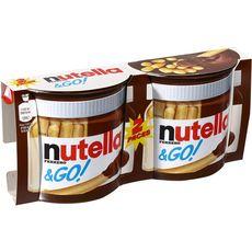 NUTELLA Nutella&Go biscuits et pâte à tartiner x2 104g