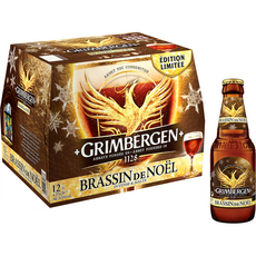 GRIMBERGEN Grimbergen Bière brassin de Noël 6,5% bouteilles 12x25cl 12x25cl