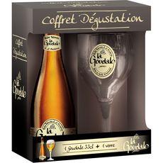 LA GOUDALE La Goudale Bière blonde coffret dégustation 33cl + 1 verre + 1 verre 33cl