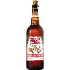 GRAIN D'ORGE Grain d'Orge Bière ambrée Brassin de Noël 6,4% 75cl 75cl