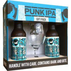 BREWDOG Coffret bières Punk IPA bouteilles + 1 verre 2x33cl