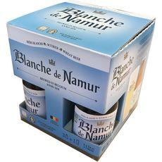 BLANCHE DE NAMUR Blanche de Namur Bière blanche coffret 4,5% 3x33cl + 1 verre + 1 verre 3x33cl