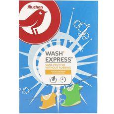 AUCHAN Wash express lessive en poudre sans frotter 650g