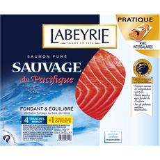 LABEYRIE Labeyrie Saumon fumé sauvage du Pacifique en tranches x4+1 offerte 140g 4+1 tranches 140g