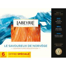LABEYRIE Labeyrie Saumon fumé de Norvège dégustation tranché x6 235g 6 tranches 235g