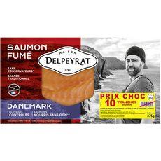 Delpeyrat Saumon fumé du Danemark 10 tranches minimum 325g