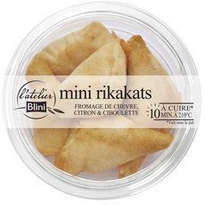 L'ATELIER BLINI Rikakats spécialité au fromage de chèvre citron et ciboulette 5 pièces 100g