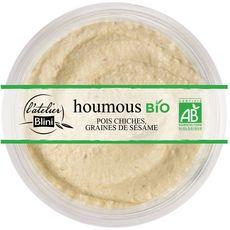 L'ATELIER BLINI Houmous bio pois chiches et graines de sésame 160g