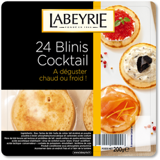 LABEYRIE Labeyrie Blinis cocktail x24 200g 24 pièces 200g