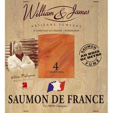 William & James Saumon fumé de France tranché x4 100g