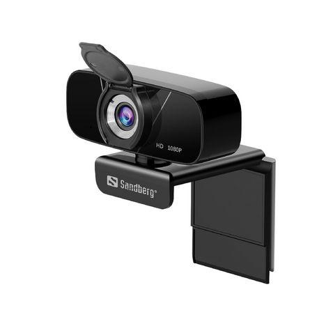 SANDBERG Webcam USBCHATHD 1080 - Noire
