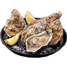 Assiette d'huîtres creuses fines de claire n°4 Marennes Oléron 6 huîtres  330g
