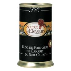 SECRET D'ELEVEURS Bloc de foie gras de canard du Sud-Ouest IGP boîte 350g