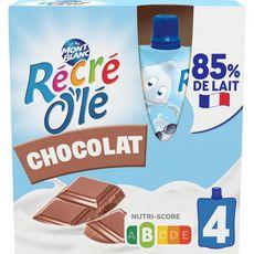 MONT BLANC Récré Olé goûter laitier en gourde saveur chocolat 4x85g