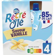 MONT BLANC Récré Olé goûter laitier en gourde saveur vanille 4x85g