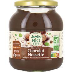 JARDIN BIO ETIC Pâte à tartiner chocolat noisettes sans huile de palme 750g