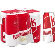 KRONENBOURG Bière blonde 4,2% boîtes 6x50cl
