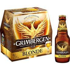GRIMBERGEN Grimbergen Bière blonde 6,7% bouteilles 6x25cl 6x25cl