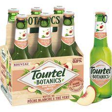 TOURTEL Bière sans alcool 0,0% pêche blanche et thé vert bouteilles 6x27.5cl
