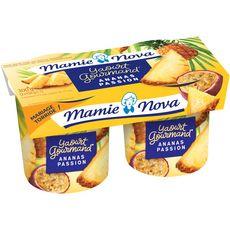 MAMIE NOVA Yaourt brassé à l'ananas et passion 2x150g