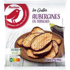 AUCHAN Aubergines grillées en tranches 3 portions 450g