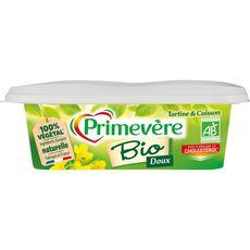 PRIMEVERE Margarine bio doux pour tartine et cuisson 250g