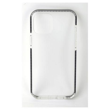 QILIVE Coque de protection pour Apple iPhone 12 et 12 Pro - Transparent/Noir